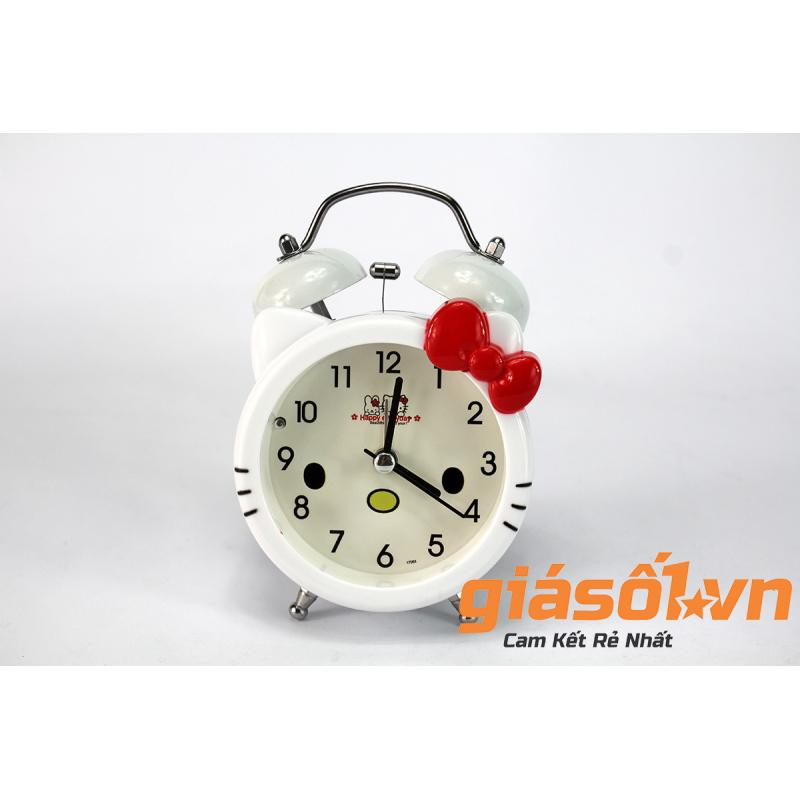 Đồng hồ báo thức để bàn Hello Kitty SS-17036 (Trắng Đỏ) bán chạy