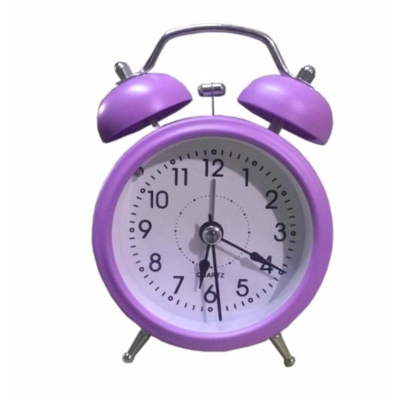Đồng hồ báo thức để bàn Mini Alarm chuông to ( Tím ) bán chạy
