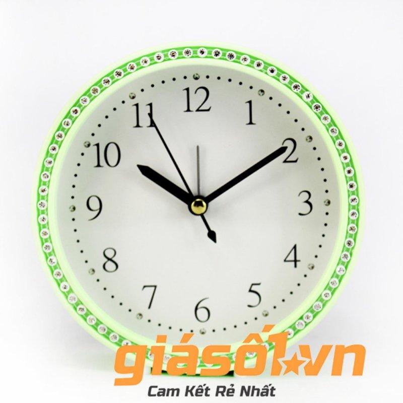 Đồng hồ báo thức King Time đính đá - US003 (Xanh) bán chạy