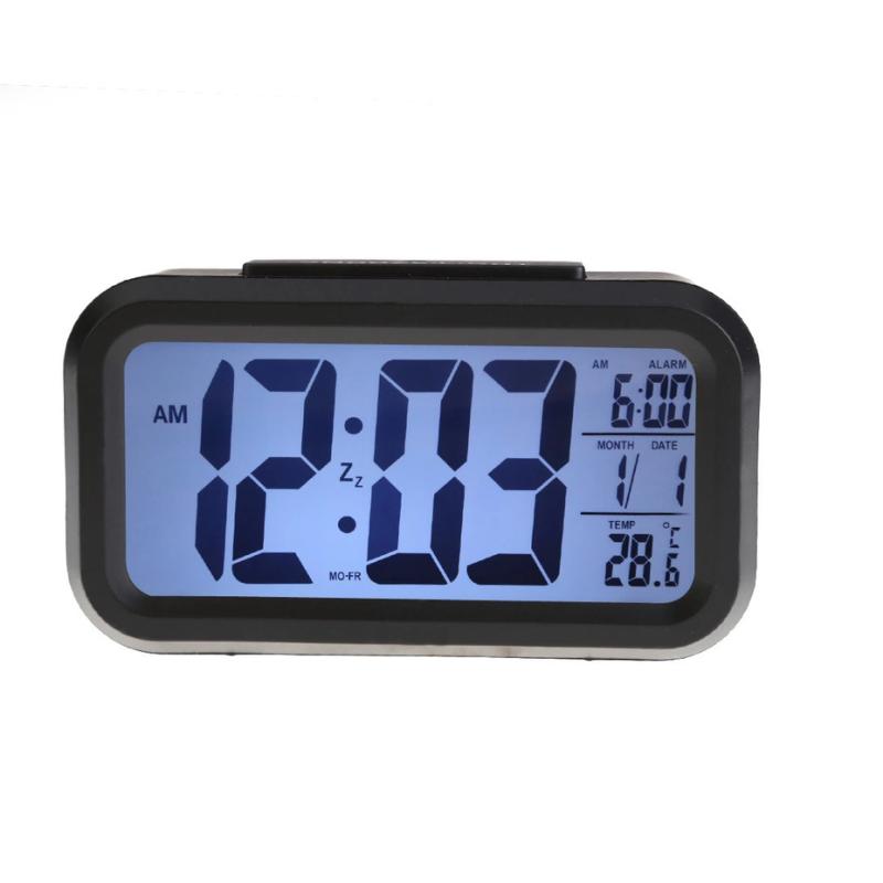 Nơi bán Đồng hồ báo thức kỹ thuật số với đèn LED nền cảm biến đa chức năng LC01 (Đen)