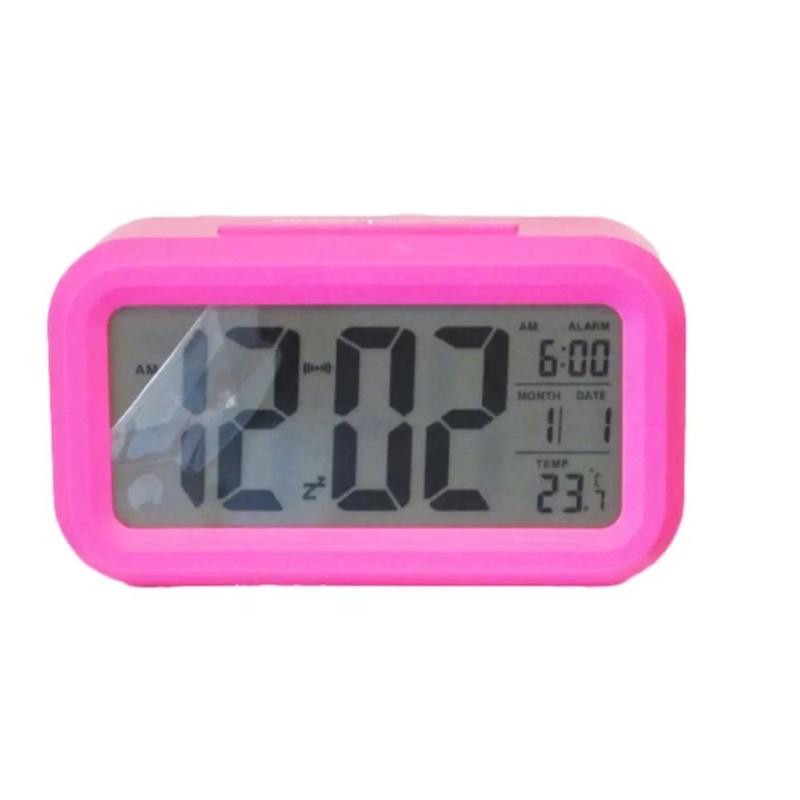 Nơi bán Đồng hồ báo thức kỹ thuật số với đèn LED nền cảm biến đa chức năng LC01 (Hồng)