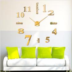 Đồng hồ dán tường tự làm DIY số và chữ tiếng anh (kim và số cùng màu)