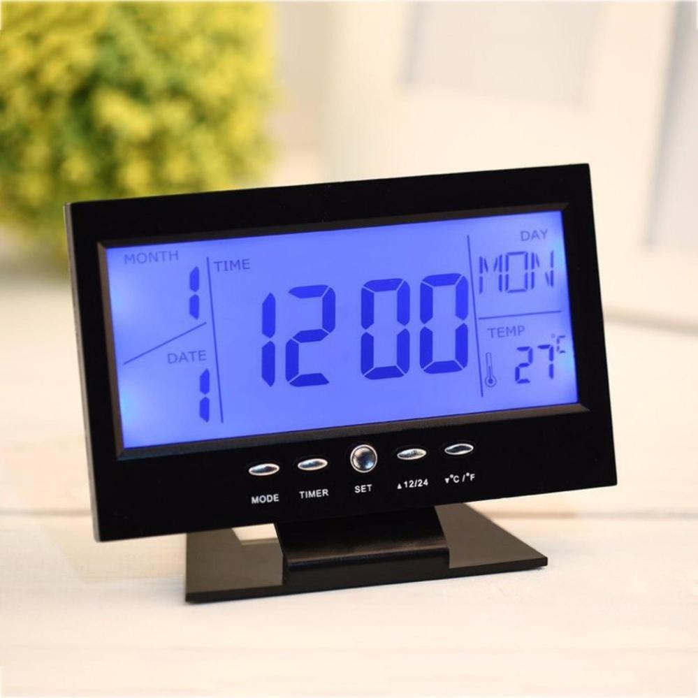 ... Đồng hồ để bàn báo thức cảm biến âm thanh 8082D ...