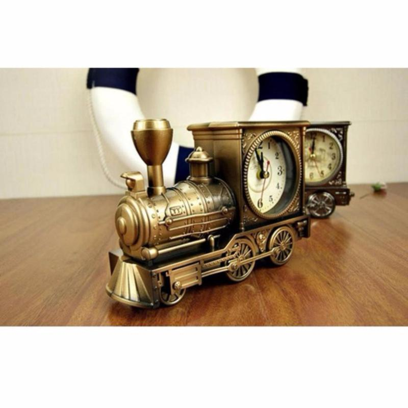 Đồng hồ để bàn hình đầu xe lửa, có báo thức  (minh hồng shop) bán chạy
