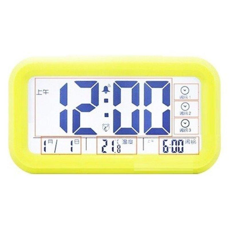 Nơi bán Đồng hồ điện tử báo thức cảm biến ánh sáng 1019 (Vàng chanh)