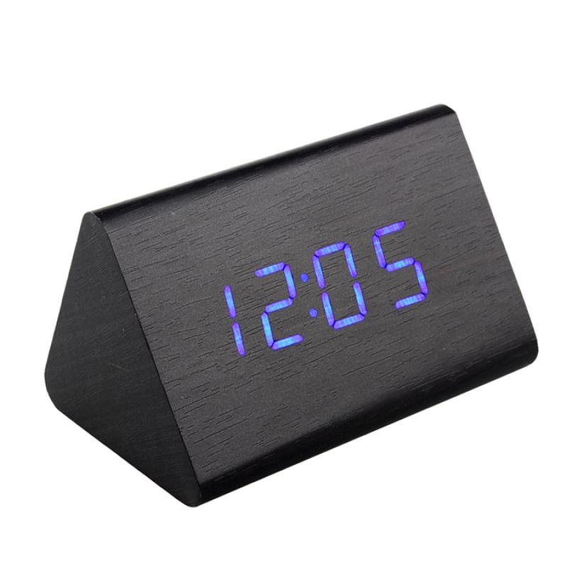 Nơi bán Đồng Hồ Gỗ Báo Thức (Wood LED Digital Desk Alarm) Xanh Dương