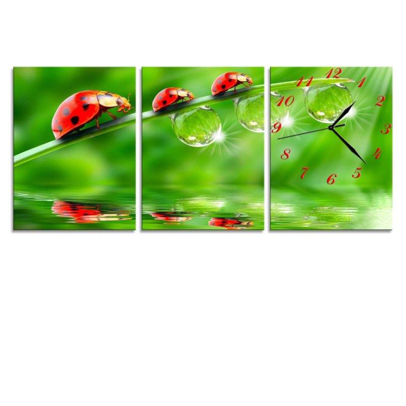 Nơi bán Đồng hồ tranh Bọ đỏ Vicdecor DHT0009