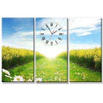Đồng hồ tranh Cánh Đồng Hoa Dyvina 3T3060-22 (Xanh)
