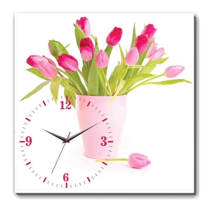 Nơi bán Đồng hồ tranh Hoa tulip hồng Dyvina 1T3030-37
