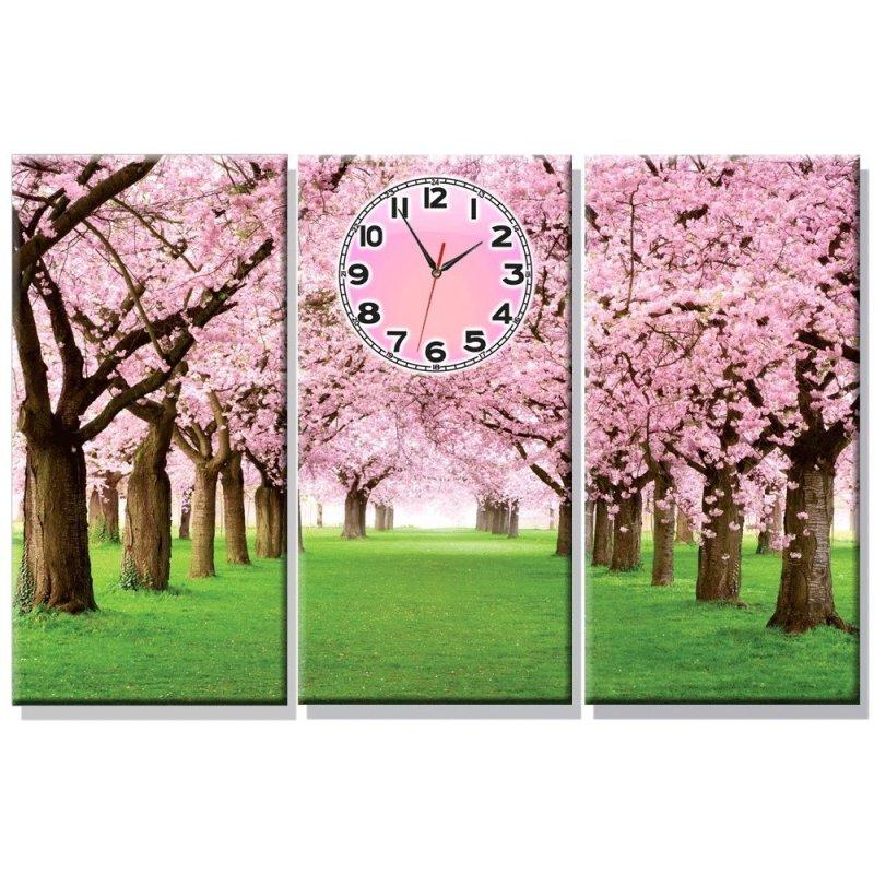 Nơi bán Đồng hồ tranh Rừng Hoa Anh Đào Dyvina 3T3060-25 (Hồng)