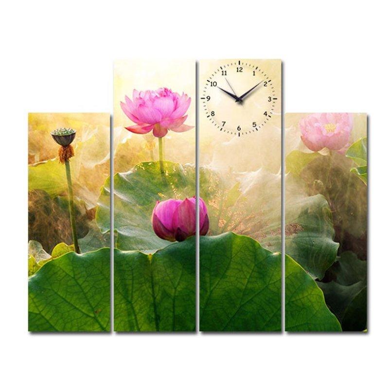 Nơi bán Đồng hồ tranh Sen hồng ngát hương Suemall HL140702