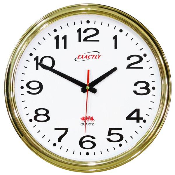 Cách mua Đồng hồ treo tường EXACTLY U420 (Xi mạ vàng)