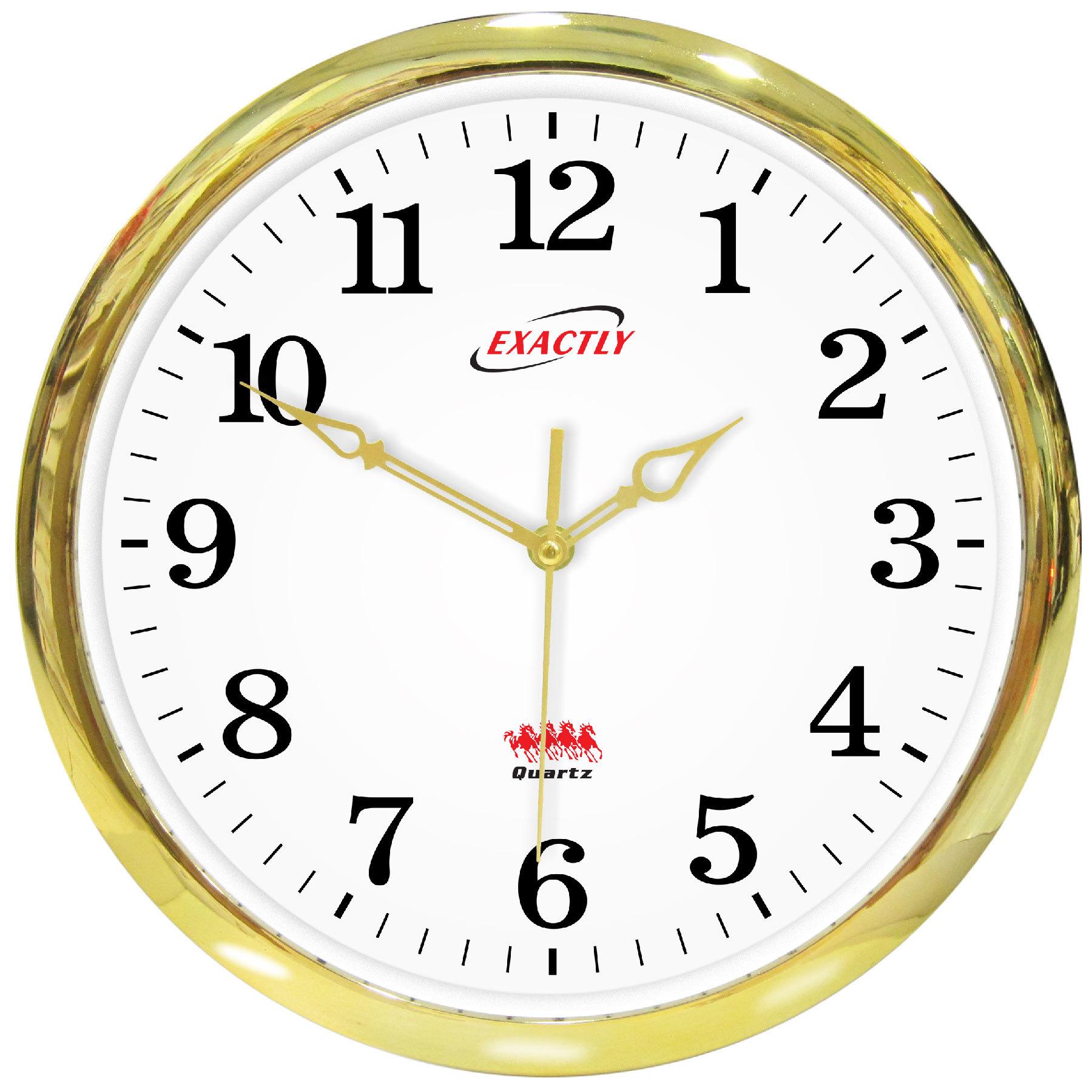 Mẫu sản phẩm Đồng hồ treo tường EXACTLY U460 (Xi mạ vàng)