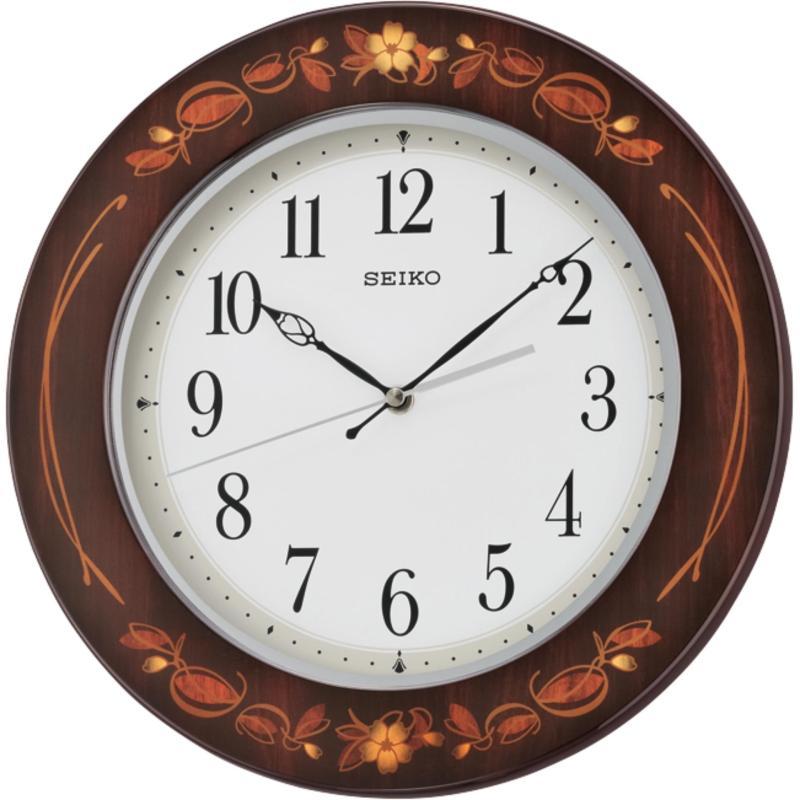 Nơi bán đồng hồ treo tường gỗ sơn mài - Seiko QXA647BN