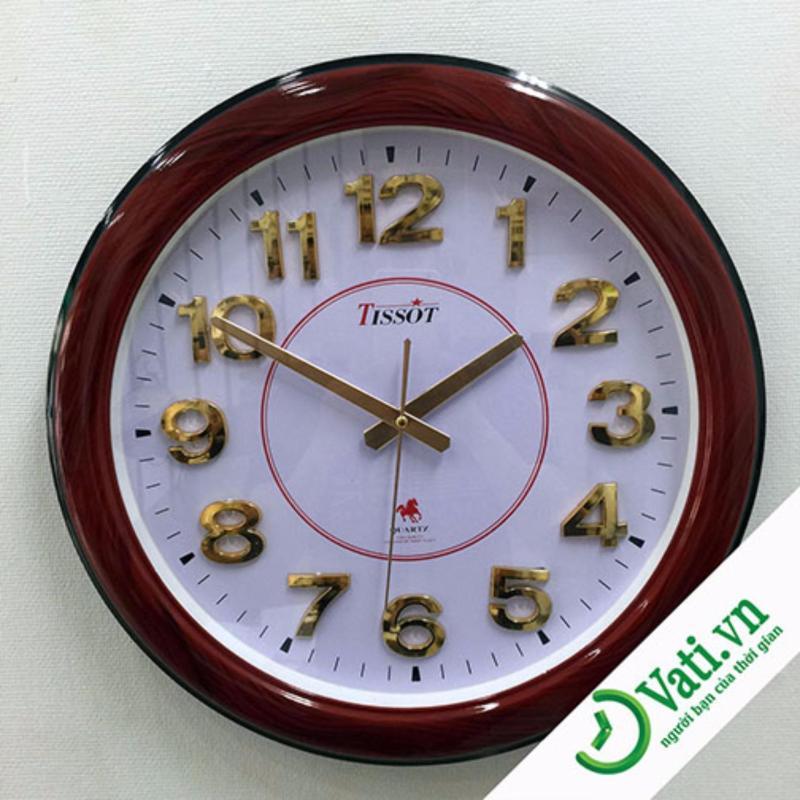 Nơi bán Đồng hồ treo tường hình tròn Brown Vati S36-Giá rẽ nhất thị trường