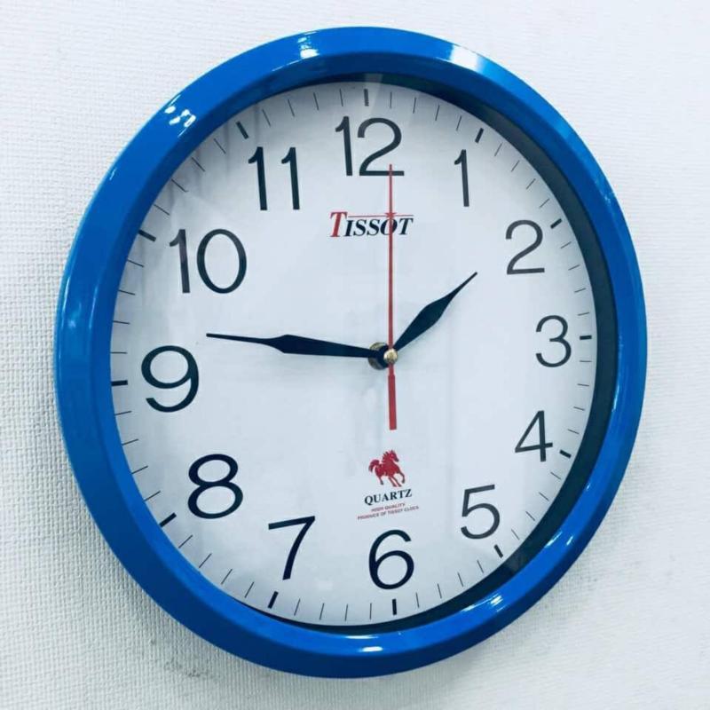 Nơi bán Đồng hồ treo tường hình tròn Vati D4 ( xanh ) - Món quà tân gia ý nghĩa