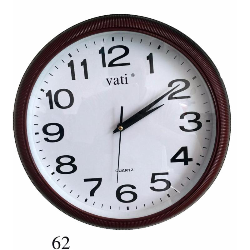 Nơi bán Đồng hồ treo tường hình tròn Vati f62 (trắng, nâu)