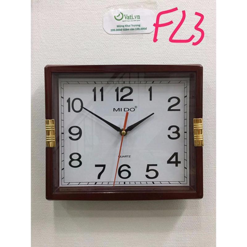 Nơi bán Đồng hồ treo tường hình vuông Vati F23 (nâu)-Thích hợp cho ngôi nhà của bạn