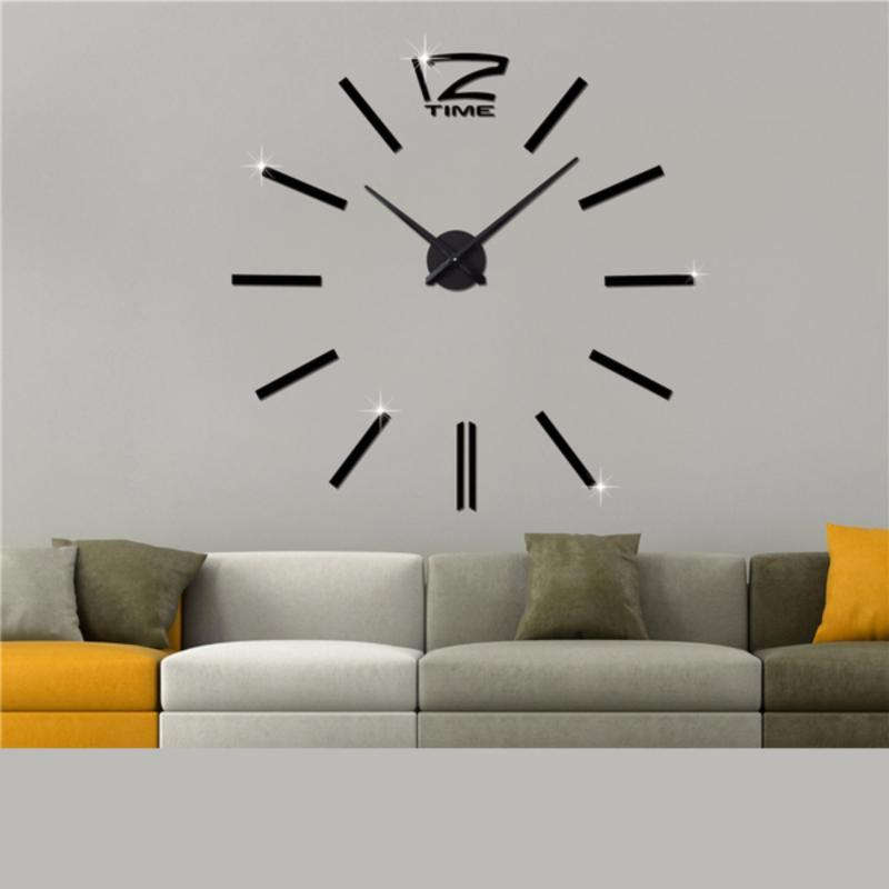 Nơi bán Đồng hồ treo tường khổ lớn Diy Clock (màu đen)