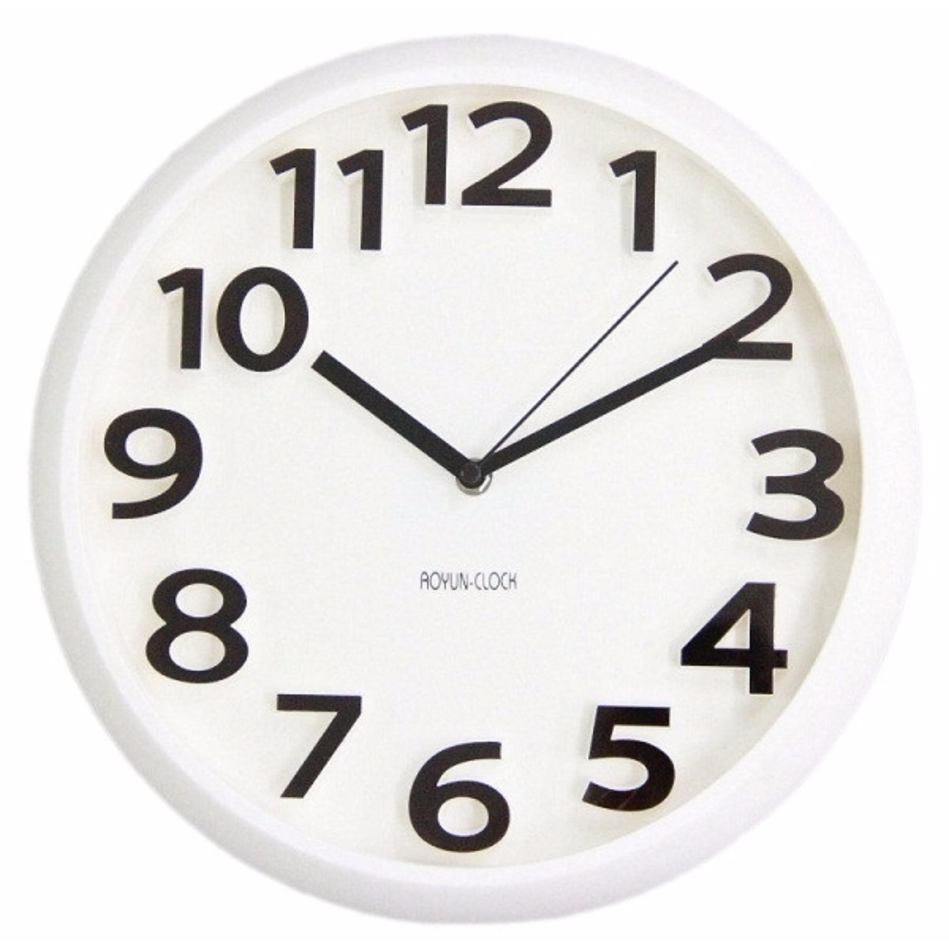Mẫu sản phẩm Đồng hồ treo tường kim trôi chuyên dụng cao cấp Aoyun Clock ( Trắng )