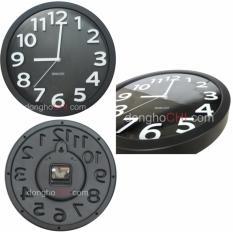 Đồng hồ treo tường kim trôi tiện lợi cao cấp AoyunClock (Đen) SV-70