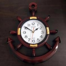 Đồng hồ treo tường mỏ neo f02 chuyên dành trang trí phòng khách( nâu)