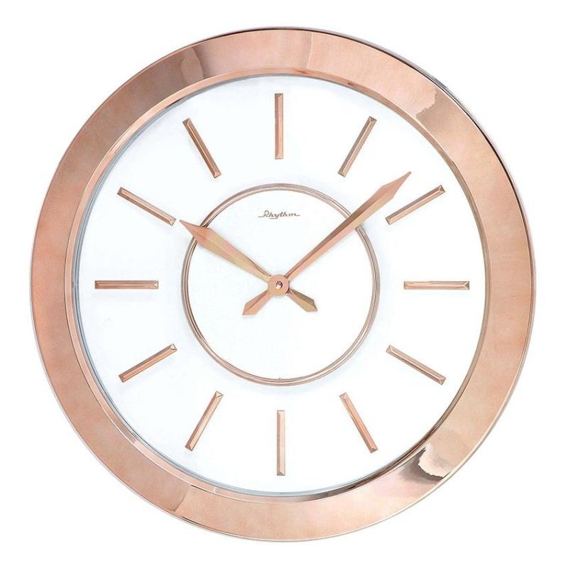 Nơi bán Đồng hồ treo tường Rhythm CMG749NR13 Value Added Wall Clocks (Vàng phối hồng)