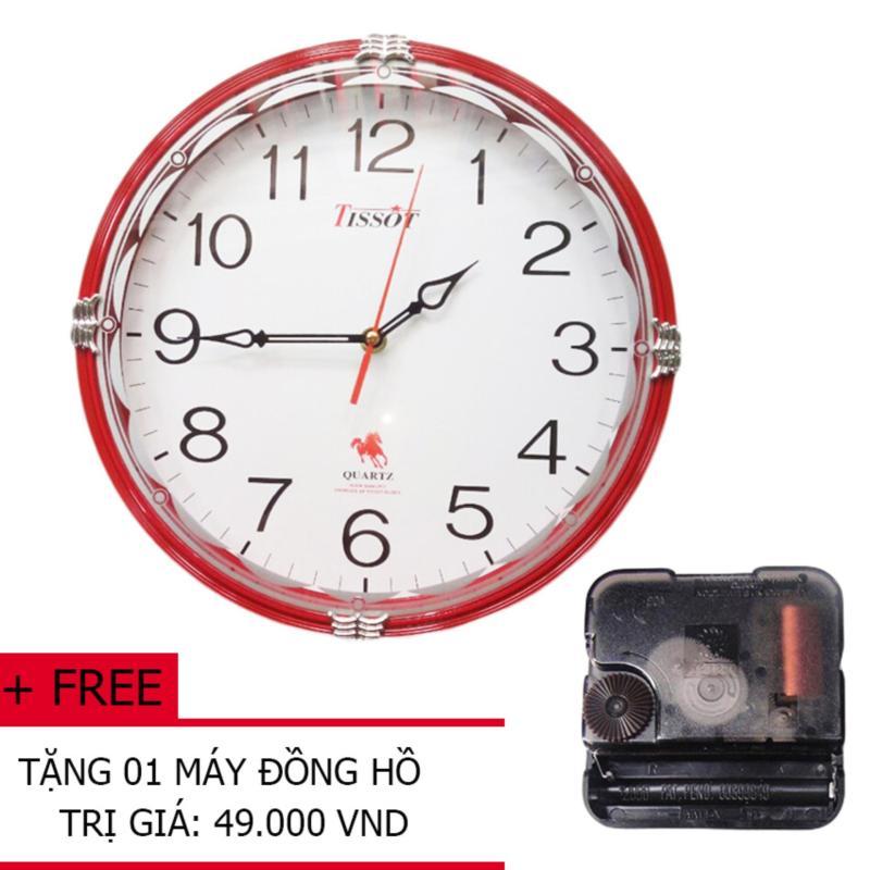 Nơi bán Đồng Hồ Treo Tường Tròn TISSOT S65T 30cm (Nhiều màu) + Tặng 01 máy đồng hồ treo tường