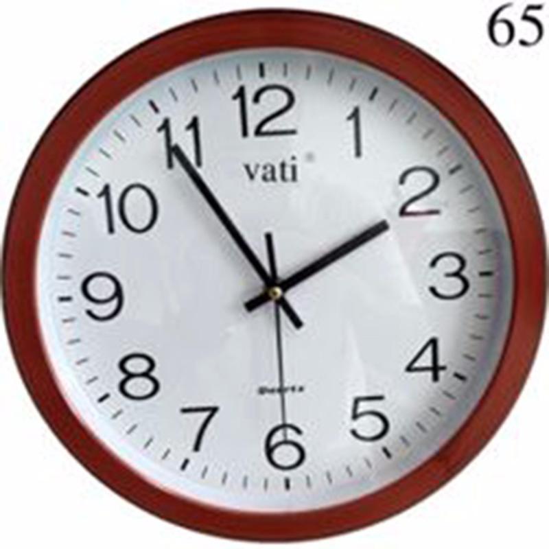 Nơi bán Đồng hồ treo tường VaTi hình tròn f65 (nâu đỏ)