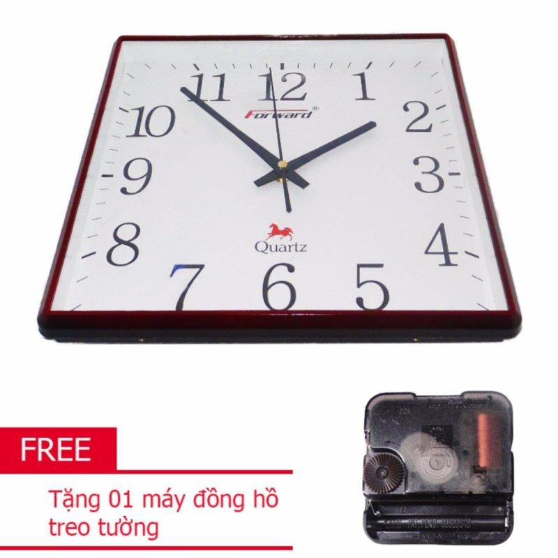 Nơi bán Đồng Hồ Vuông Treo Tường Forward FW-V30T (Nâu) + Tặng 01 Máy đồng hồ treo tường