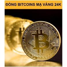 Đồng tiền Bitcoin cao cấp mạ vàng 24K