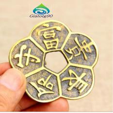 Trang bán Bộ 2 Đồng tiền Hoa Mai 5 cánh 206570 (Đồ đồng, phong thủy)