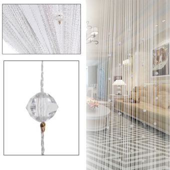 Door Window Decorative String Curtain Beads(White) - intl