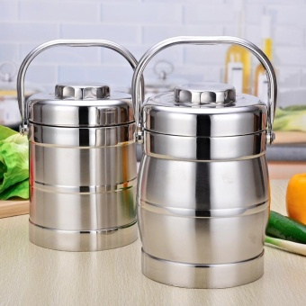 Double Layer Stainless Steel Vacuum Insulated Lunch Box Student 3 Layer Lunch Box Volume - intl