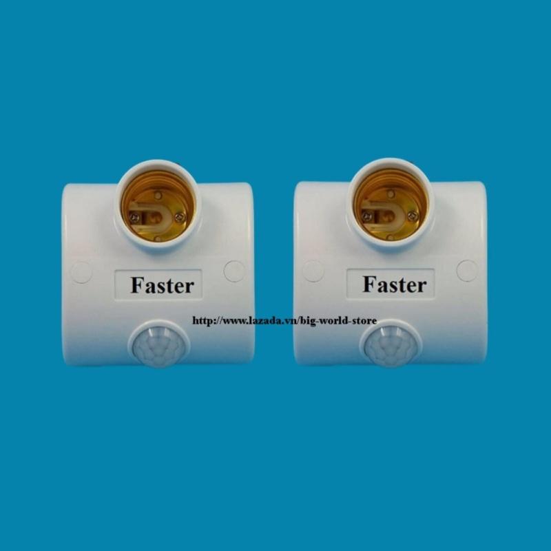 Bảng giá Mua Đui đèn cảm ứng hồng ngoại Faster 2 chiếc (Trắng)
