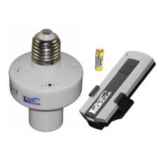 Đui đèn E27 điều khiển từ xa bằng sóng Radio (RF) trắng