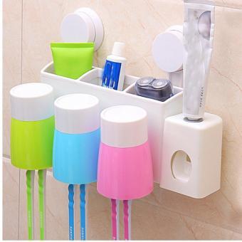 Dụng Cụ Lấy Kem Đánh Răng Tự Động có 3 cốc nhựa