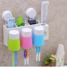 Dụng cụ nhả kem đánh răng kèm 3 cốc tự động – loại mới 2017