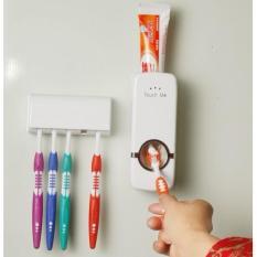 [KỆ ĐỂ BÀN CHẢI] Bộ nhả kem đánh răng tự động Touchme kèm kệ để bàn chải – Tiện lợi, sang trọng (PT12)