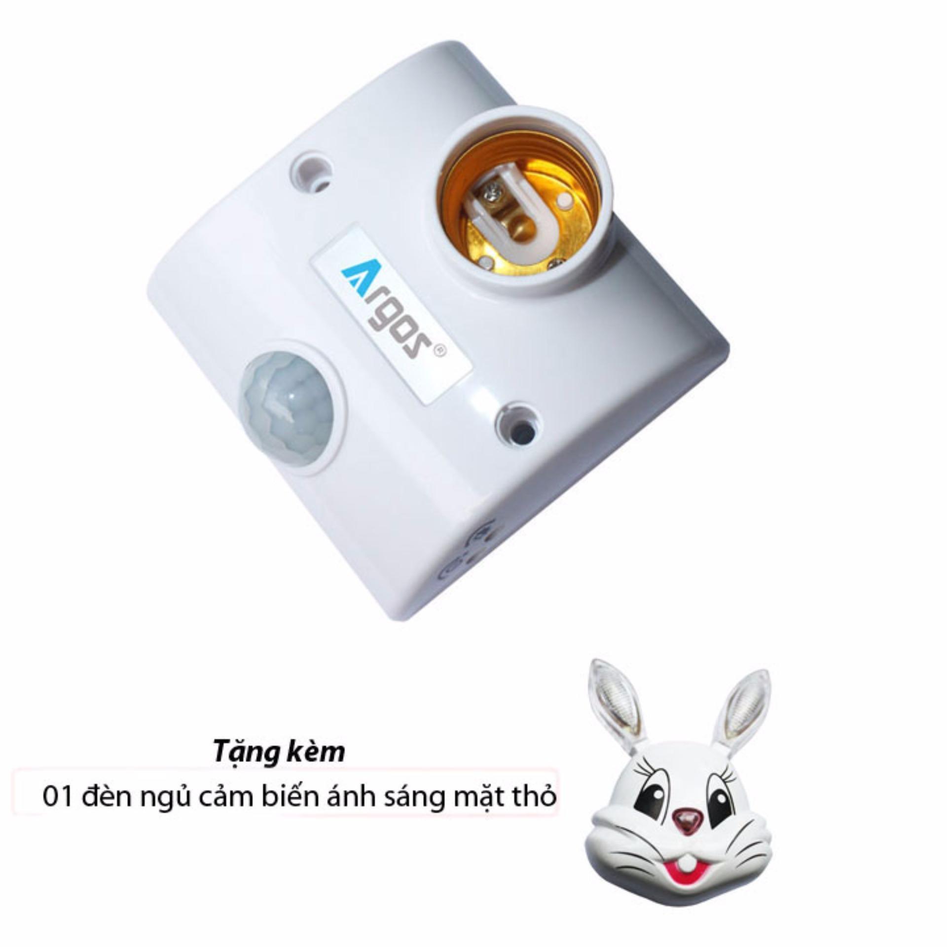 Cập Nhật Giá Đuôi đèn cảm biến hồng ngoại Argos TR02 – tặng kèm đèn ngủ cảm biến mặt thỏ