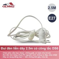 Đuôi đèn liền dây có công tắc DS6 2.5m