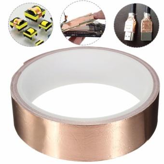 EMI Copper Foil Shielding Tape 25mm x 4m Low Impedance Conductive Adhesive - intl