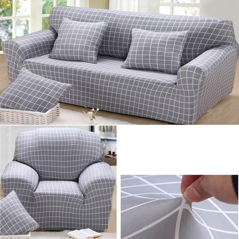 Phong Cách châu âu Co Giãn Mặt Cắt Sofa Mềm Slipcovers Thun Ghế Dành Cho 2 Ghế Ngồi-quốc tế