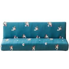 (Giao hàng miễn phí cho cả ba chiếc đến Hà Nội)Thun hoa Ghế Sofa Tất Cả-Đã Bao Gồm Chống Trơn Trượt Nhà Sofa Khăn Bao Phụ Kiện (Xanh Dương) -L-quốc tế (Blue)