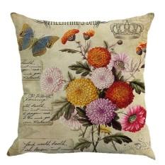 Hoa Vintage Áo Gối Sofa Gối Trang Trí Nhà Hộp Da Đựng-quốc tế