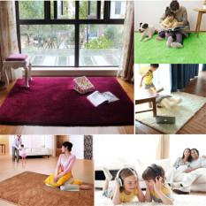 Thảm lót phàn sùng lông tơ mềm chuồn trượt to ở khu vực tập Yoga phòng ngủ phòng ăn Màu đen -Quốc tế