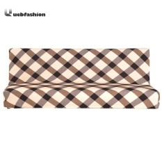 Fold Sofa Cover Elastic Plaid Couch Furniture Sofa Bed Cover(Coffee)-S