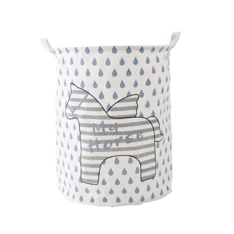 Foldable Storage Basket Creative Laundry Box Laundry Baskets style:Raindrops - intl