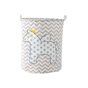 Foldable Storage Basket Creative Laundry Box Laundry Basketsstyle:Waves - intl