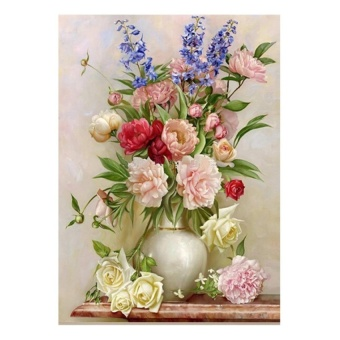 FRD Charming Flowerpot 5D Diamond Diy Painting Craft Kit Home Decor - intl